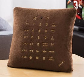 Brookstone Remote Control Pillow stuffed with a universal 6 in 1 remote control 3