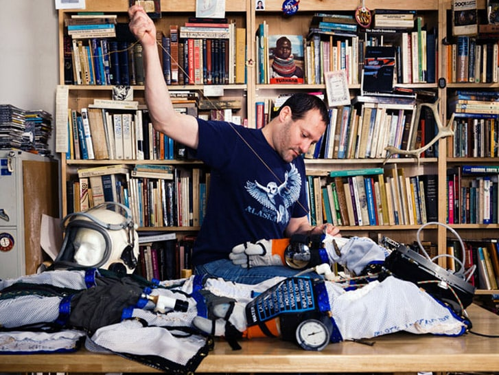 Designer uses spare parts to build his very own spacesuit 5