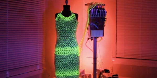 Charlie Bucket Fluid Dress lights up when you wear it 2