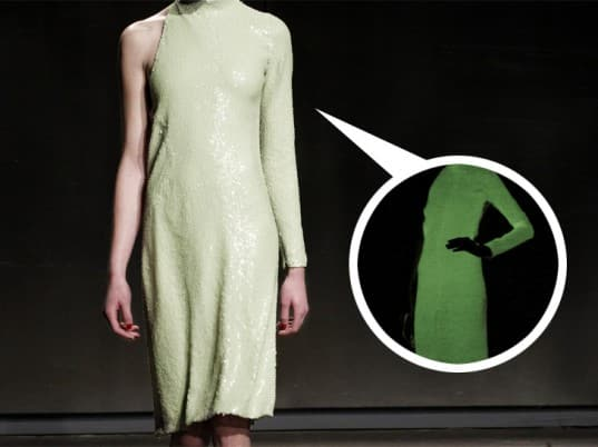 Halston's sequin gown is a glow in the dark affair 12