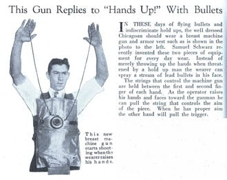 Crunchwear Classics - Machine gun vest from the 1920s is a real blast from the past 10