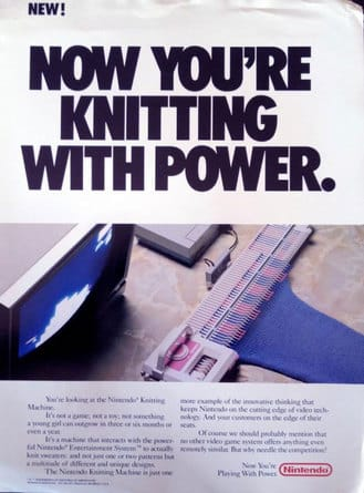 Crunchwear Classics - Nintendo almost released a knitting add-on for the NES 6