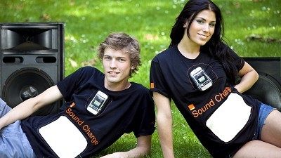 Orange UK's Sound Charge T-shirt uses sound to charge your phone 10