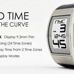Phosphor's World Time Curved E Ink digital watch 3