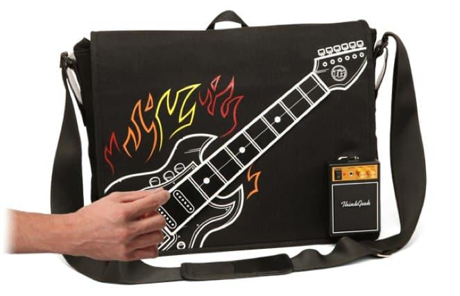 ThinkGeek's Electric Guitar Bag is a playable, functional rock monster 9