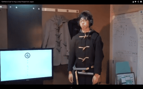 'Girlfriend Coat' Simulates Hugs, Makes Life Less Lonely 7