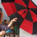 Vodaphone's Booster Brolly uses an umbrella to charge your phone and boost your signal, Mary Poppins look out 3