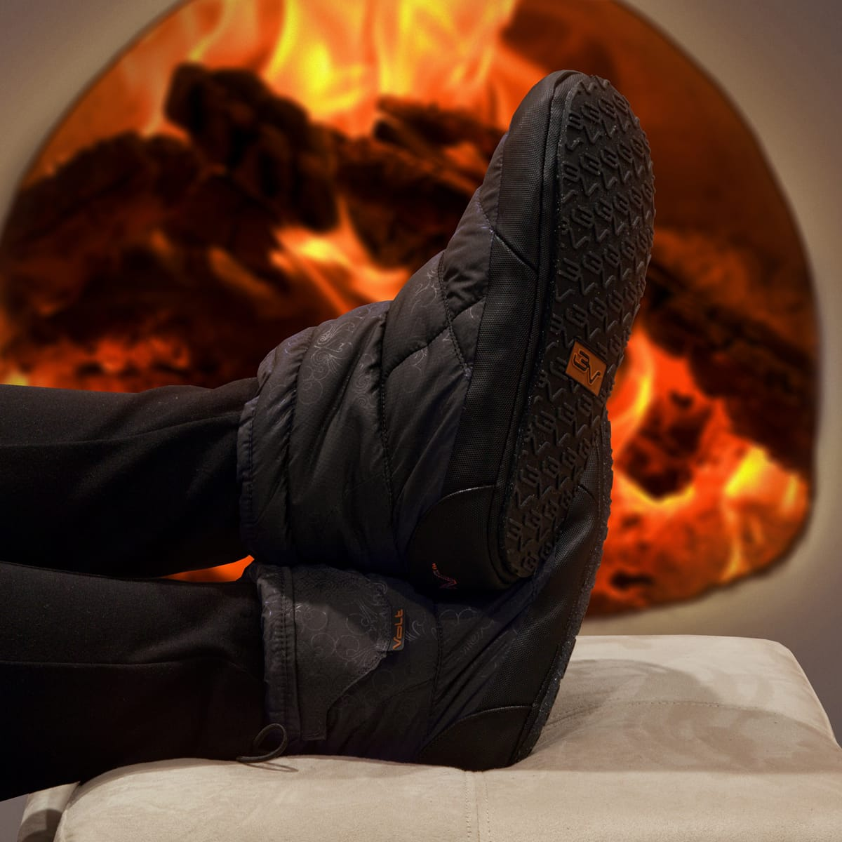 volt heat heated slippers